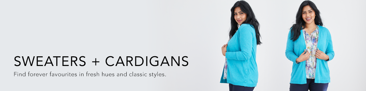 Sweaters and Cardigans. Find forever favourites in fresh hues and classic styles.
