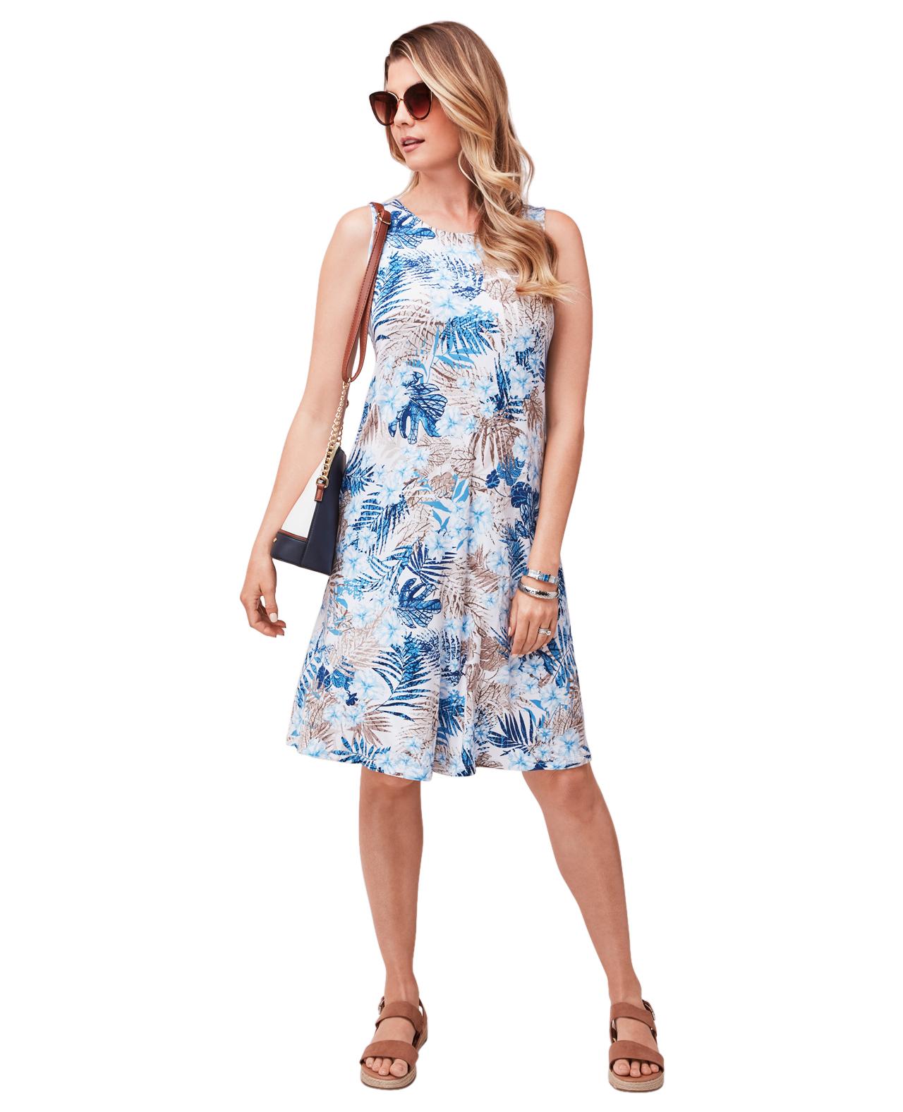 Everyday Tropical Print Dress